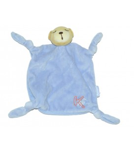 kaloo-doudou-ours-plat-bleu-4-noeuds-brode-k-en-rouge