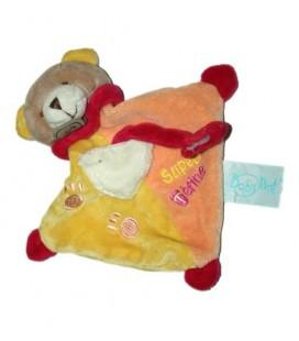 petit-doudou-ours-super-tetine-orange-jaune-baby-nat-bn741