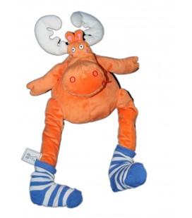 ikea-peluche-renne-orange-chaussette-barnslig-alg-moose-reindeer-neuf-etiq