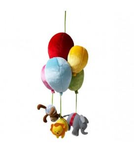 Leka Circus Ikea Mobile doudou singe elephant lion