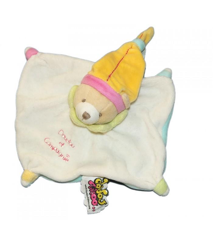 doudou et compagnie mini doudou tatoo ours blanc orange vert. Black Bedroom Furniture Sets. Home Design Ideas