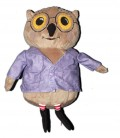 peluche-doudou-hibou-chouette-beige-veste-mauve-vandring-uggla-ikea-35-cm