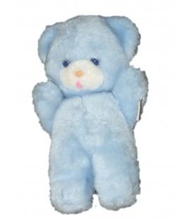 Boulgom Peluche Vintage nounours ours bleu Grelot 23 cm