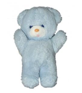 Boulgom Peluche nounours ours bleu Grelot 23 cm