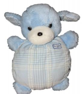 Boulgom Peluche chien bleu corps tissu 23 cm