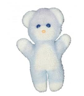 Peluche ours blanc bleu Pastel Boulgom 23 cm VINTAGE - Rare et Collector