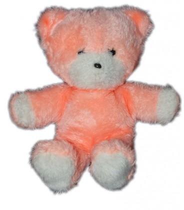 peluche-ours-rose-boulgom-28-cm-vintage-rare-et-collector