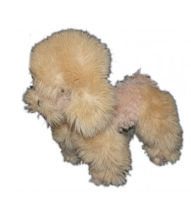 Anima Peluche chien beige 28 cm Caniche