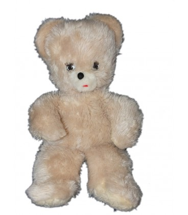 collector-vintage-ancienne-peluche-ours-sleepy-beige-clair-50-cm