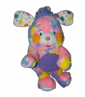Peluche POPPLES mauve rose Multicolore 35 cm LANSAY Queue coupée