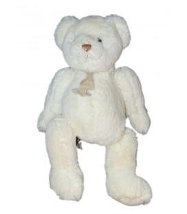 Histoire d'Ours Peluche ours blanc 32 cm