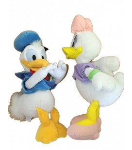 LOT - 2 x Peluche Doudou DONALD DAISY- Disneyland Paris 32 cm