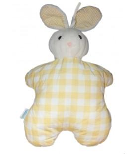 vintage-peluche-doudou-tissu-range-pyjama-lapin-jaune-carreaux-50-cm-histoire-d-ours-cdj-petit-caid