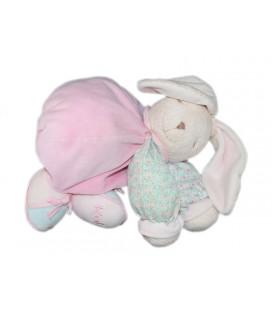 kaloo-doudou-lapin-lilirose-lili-rose-tissu-fleuri-aimants-yeux-fermes-25-cm