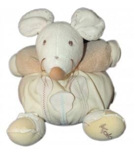 kaloo-doudou-boule-souris-beige-blanc-ecru-creme-feuilles-arbres-nature-25-cm