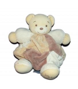 kaloo-doudou-ours-beige-marrron-plume-patchwork-30-cm