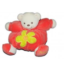 kaloo-peluche-doudou-ours-orange-fleur-jaune-1998-24-cm