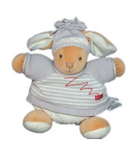 kaloo-peluche-doudou-lapin-bonnet-ski-pull-laine-tricot-rayures-22-cm-zig-zag-2005