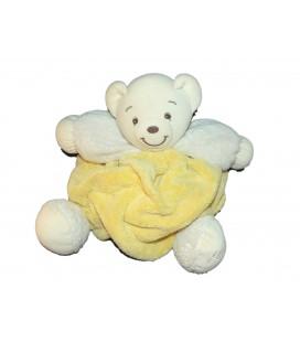 Kaloo Doudou Ours jaune plume Patchwork 30 cm