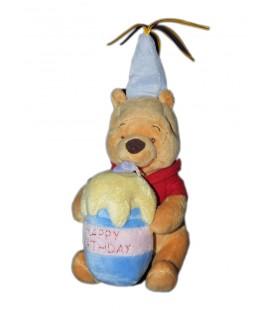 Peluche doudou anniversaire Winnie Happy birthday Bougie Disney 18 cm Disney Disneyland Paris