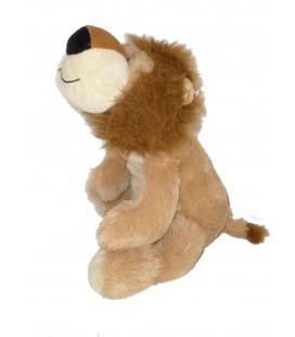 Doudou peluche LION Max et Sax Marron beige L 50 cm allongé