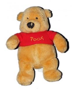 Peluche doudou WINNIE L'OURSON brillant fils dorés Glitter Pooh Disney Store 20 cm Sapin brodé