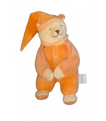 Peluche doudou OURS orange - BaBIaGE - Doodoo 30 cm SaNS BOITIER
