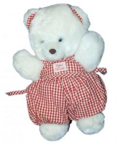 peluche-doudou-ours-blanc-tartine-et-chocolat-30-cm-salopette-rouge-vichy-carreaux