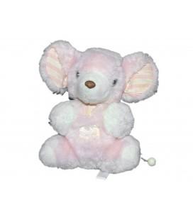 ne-fonctionne-plus-peluche-musicale-doudou-souris-rose-carreaux-tartine-et-chocolat-20-cm