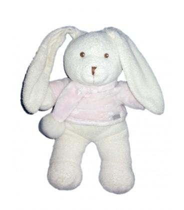 doudou-lapin-blanc-rose-natalys-douceur-30-cm