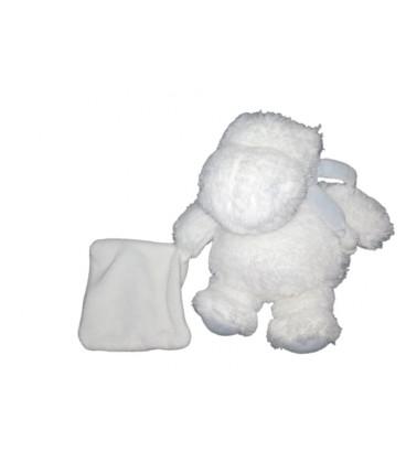 Doudou Hippopotame Mon Tout Petit Blanc Bleu Mouchoir Doudou Et Compagnie 20 cm
