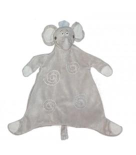 Kimbaloo Doudou plat éléphant gris spirales