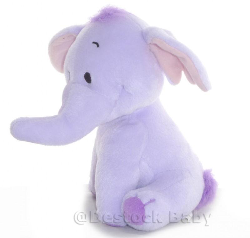 DOUDOU PELUCHE ELEPHANT LUMPY DISNEY NICOTOY SATIN VICHY CARREAUX MAUVE 22cm J4