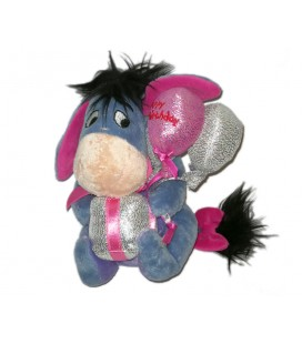 Peluche Doudou Bourriquet Disney Disneyland Cadeau Happy Birthday ballons 16 cm