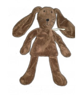 Doudou lapin marron brun DPAM Du Pareil au Même 32 cm