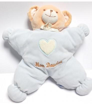 ajena-doudou-semi-plat-ours-bleu-mon-doudou-30-cm