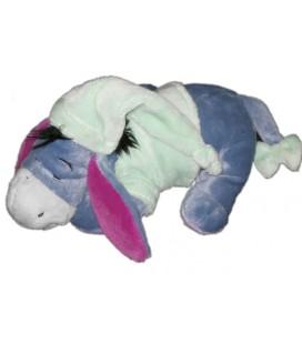 Doudou peluche Bourriquet Disney Nicotoy Bonnet vert allongé dormeur 20 cm
