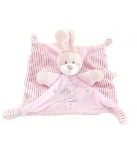 SIMBA Nicotoy Doudou plat Lapin rose étoiles Simba Toys 5690075