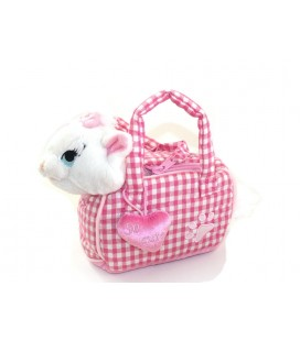 Peluche Chat Marie LES ARISTOCHATS sac Panier coeur So Cute Disney Disneyland Paris 20 cm