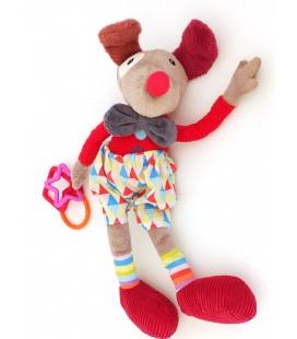 Doudou Ebulobo Alfred le clown Peluche d'Activité