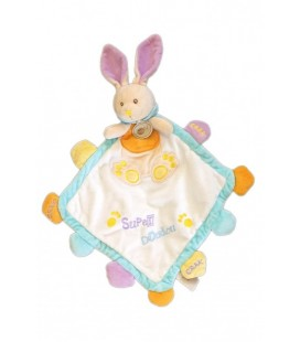 Doudou lapin blanc Super doudou Grelot 45 cm Baby Nat