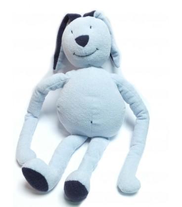 Grand Doudou peluche lapin bleu 50 cm DPAM Du Pareil au Même