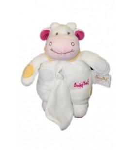 Doudou VaCHE blanche rose - Mouchoir - 18 cm - BaBY NaT Babynat