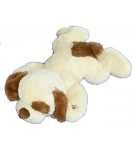 Peluche Doudou CHIEN allongé qui aboie - Beige clair marron GIPSY - L 65 cm