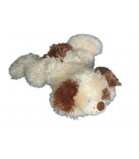peluche-doudou-chien-allonge-qui-aboie-jaune-clair-creme-marron-gipsy-35-cm
