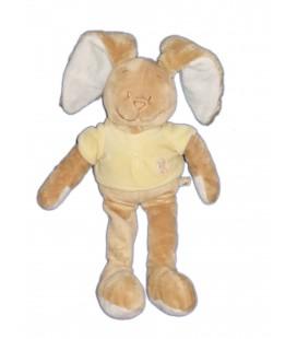 Noukie's Doudou Lapin beige pull jaune Poule 35 cm