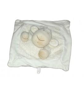 Doudou plat MOUTON Agneau blanc beige NATURE ET DECOUVERTES