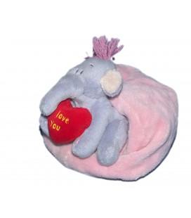Peluche doudou Lumpy coussin Coeur I Love You Disney Nicotoy 13 cm