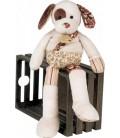 Doudou Peluche Chien Hund Dog Histoire D' Ours - 26 cm Marron Blanc Bordeaux