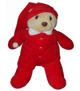 Peluche Ours pyjama rouge dormeur DAMART Perfectel Collection